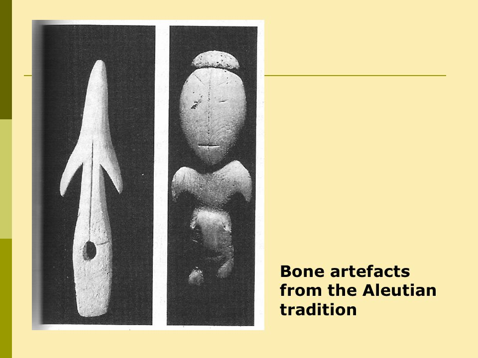 Bone artefacts from the Aleutian tradition