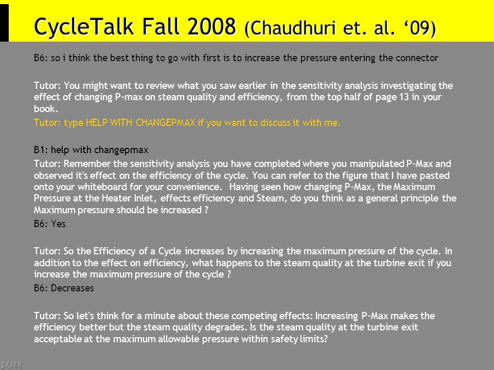 34/44 CycleTalk Fall 2008 (Chaudhuri et. al.