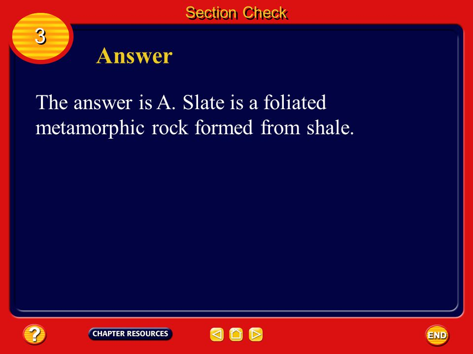Section Check 3 3 Question 2 Name the metamorphic rock texture in which mineral grains line up in parallel layers. A. foliated B. nonfoliated C. sedim