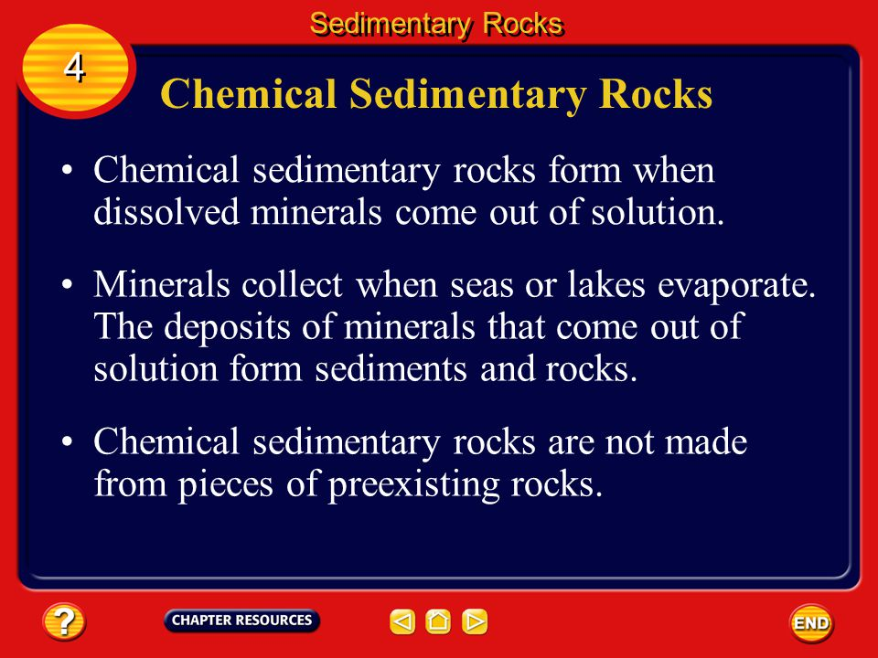 Materials Found in Sedimentary Rocks Sandstone is formed from smaller particles than conglomerates and breccias. Sedimentary Rocks 4 4 Siltstone is si