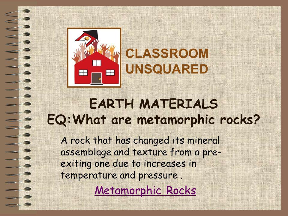 Metamorphic Rocks Temperature Depth of burial (Avg.