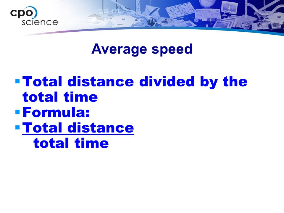 Calculating Speed  Why the letter v is used for speed...