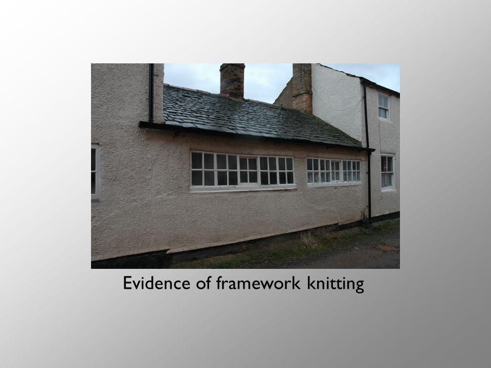 Evidence of framework knitting