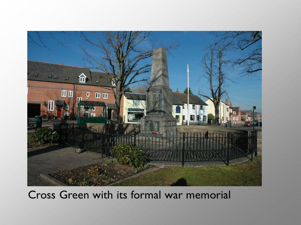 Cross Green with its formal war memorial