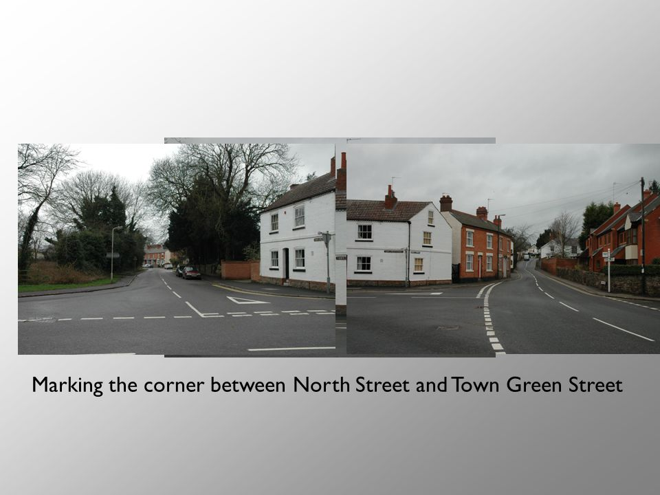Marking the corner between North Street and Town Green Street