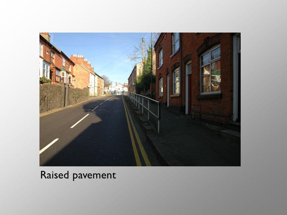 Raised pavement