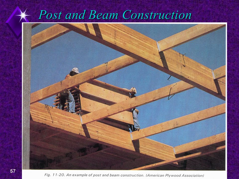 57EDT 300 - Sill and Floor Construction Post and Beam Construction
