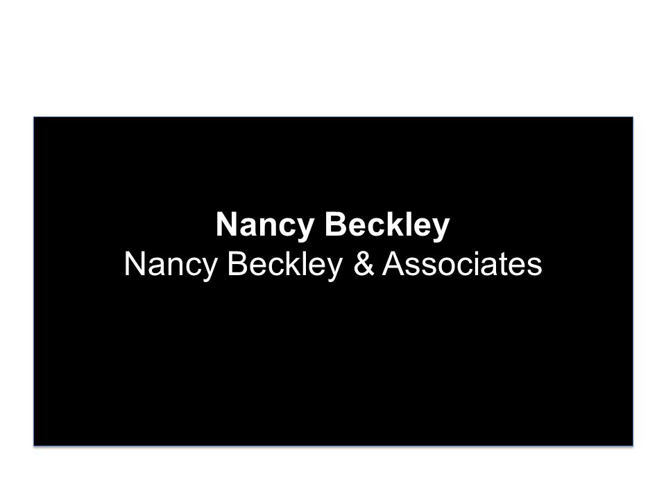 Nancy Beckley Nancy Beckley & Associates