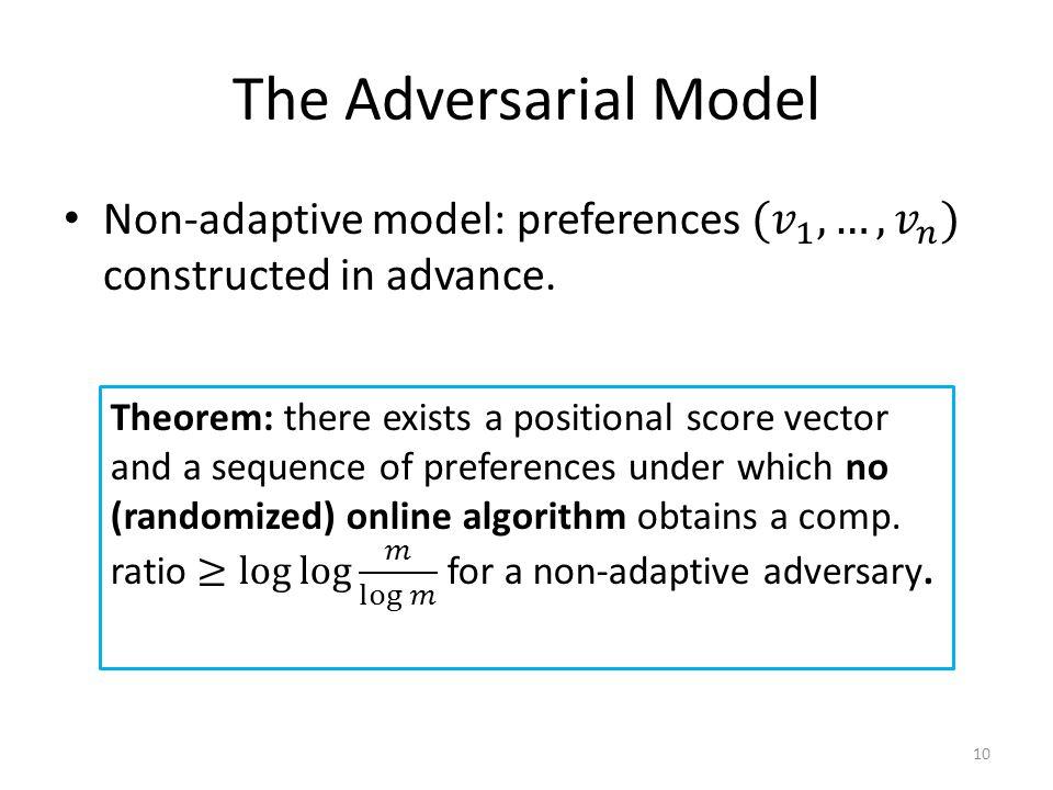The Adversarial Model 10