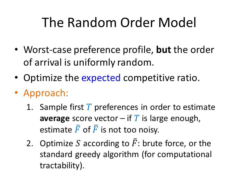 The Random Order Model