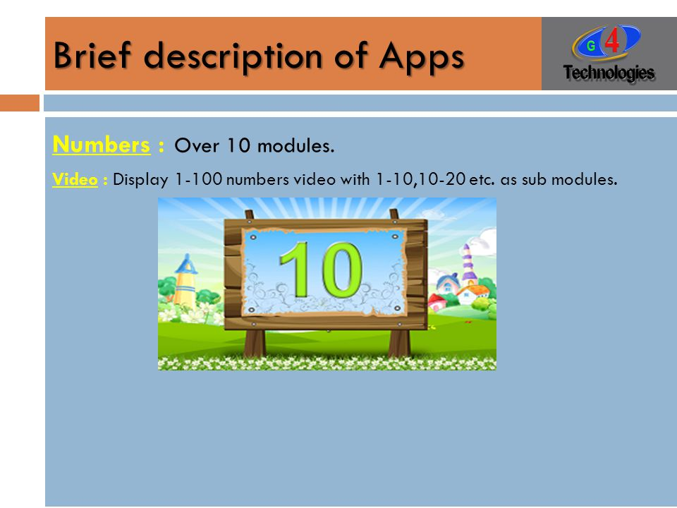 Brief description of Apps Numbers : Over 10 modules.