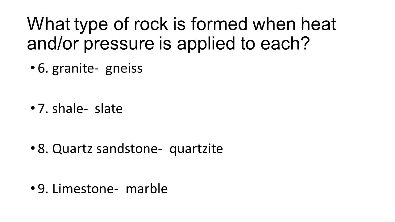 How can these metamorphic rocks be used.10.