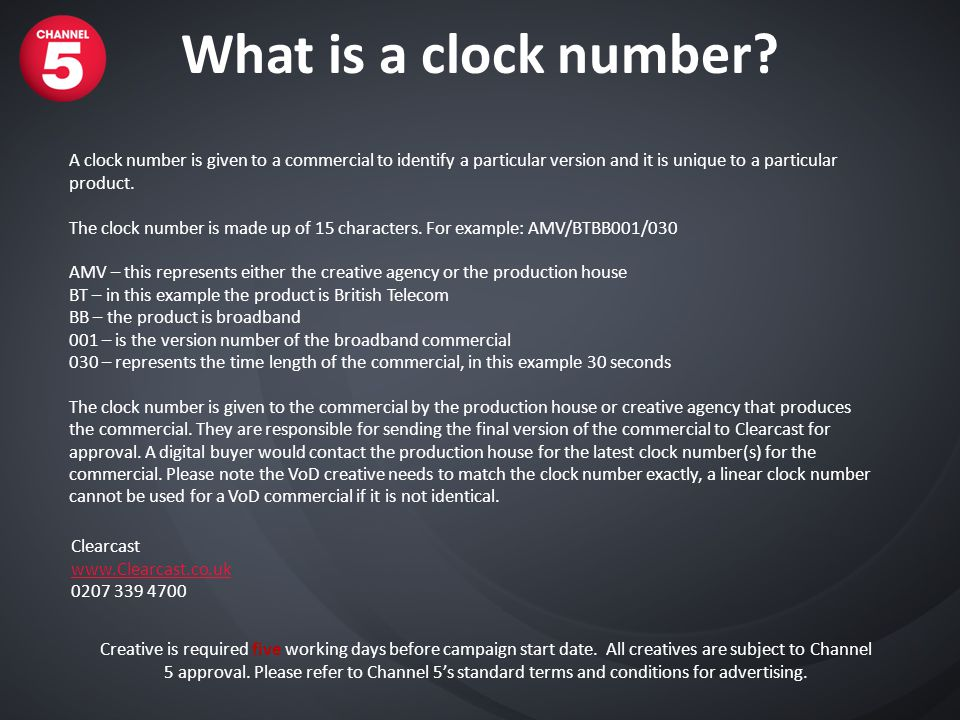 What is a clock number.
