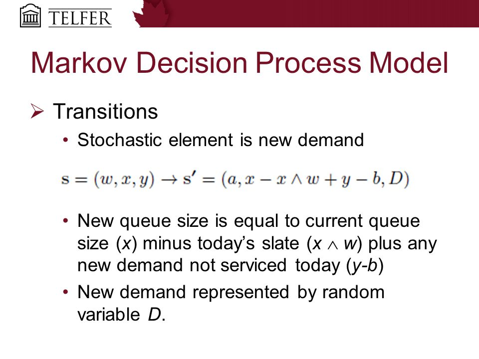 Markov Decision Process Model  Costs/Rewards System Related: revenue, overtime, idle time Patient Related: lead time For switching the ABP