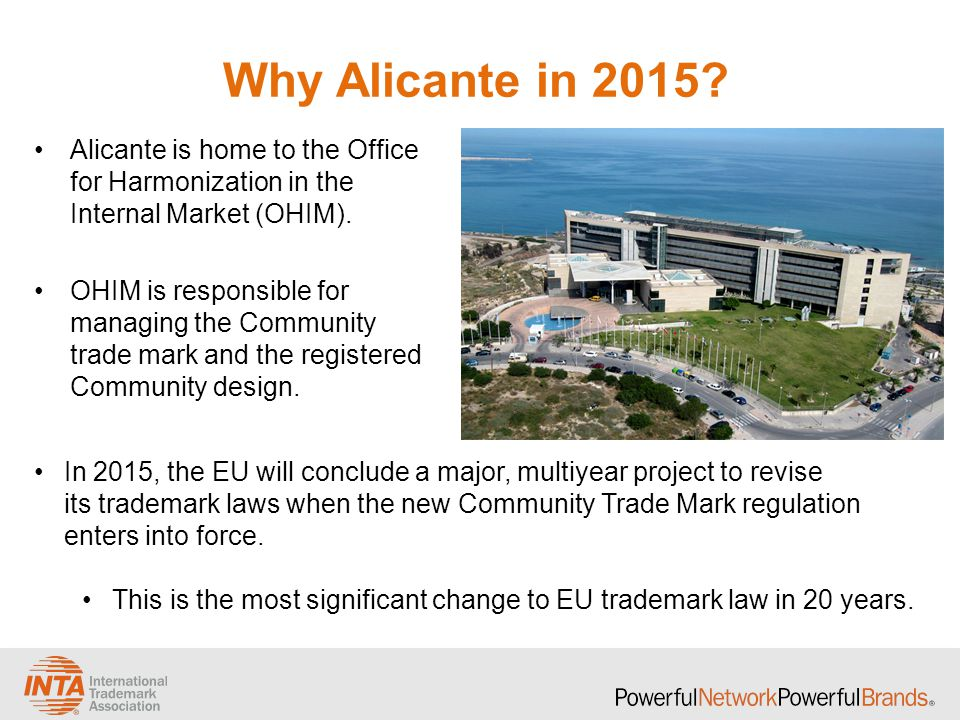 Why Alicante in 2015.