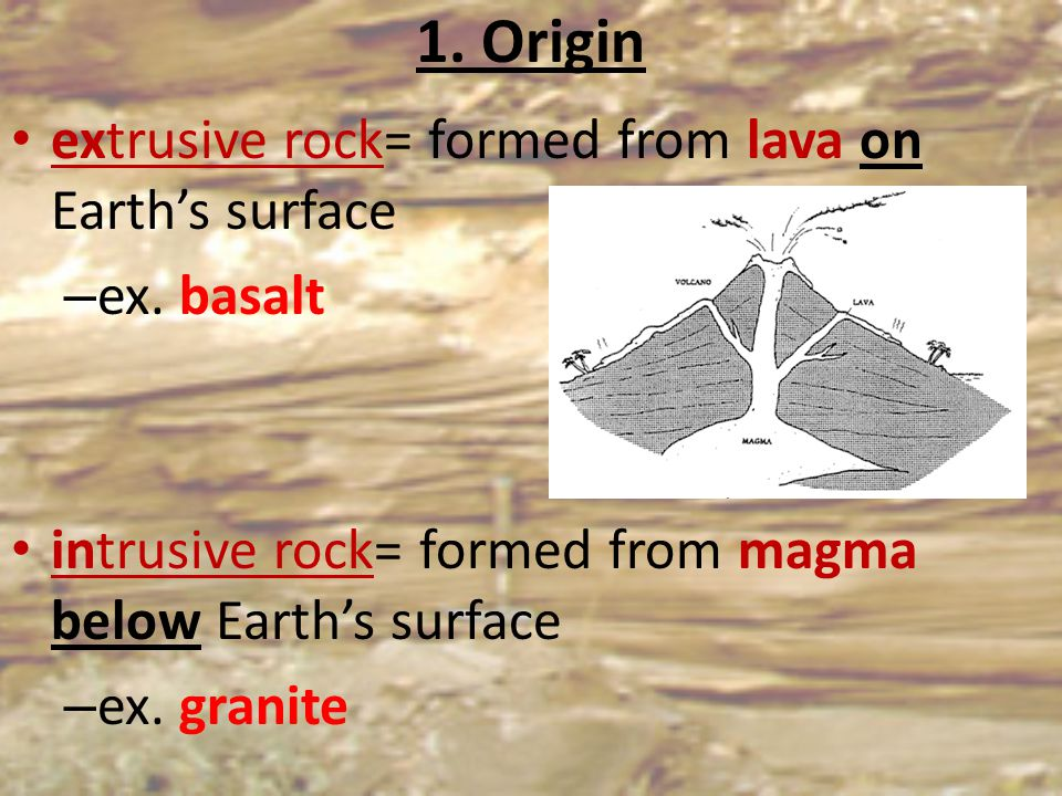 2. Texture depends on size & shape of mineral crystals