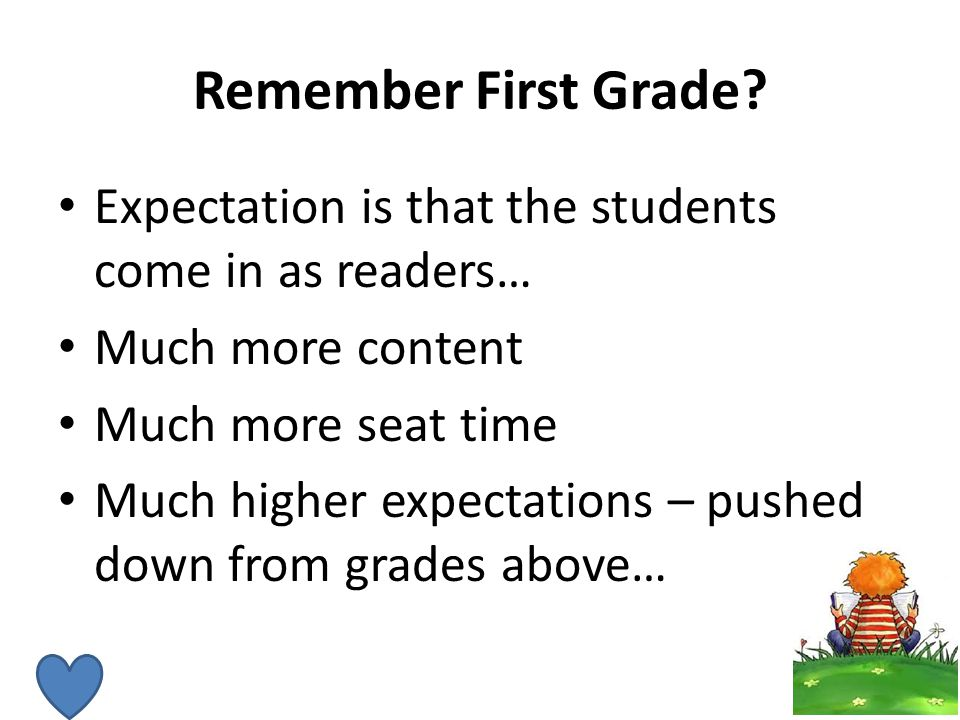 Remember First Grade.