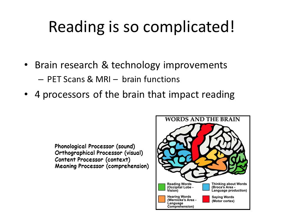 Reading is so complicated.