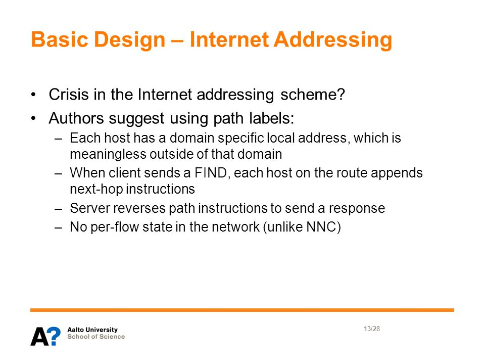 Basic Design – Internet Addressing Crisis in the Internet addressing scheme.