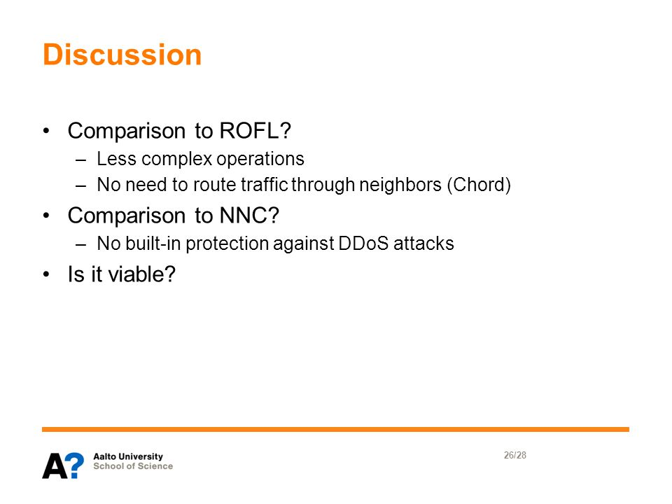 Discussion Comparison to ROFL.