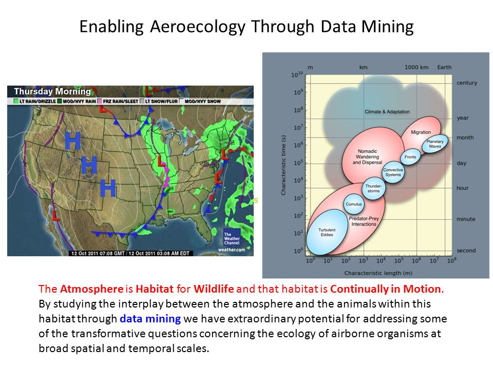 Clean Slate Enabling Aeroecology Through Data Mining The Atmosphere is Habitat for Wildlife and that habitat is Continually in Motion.