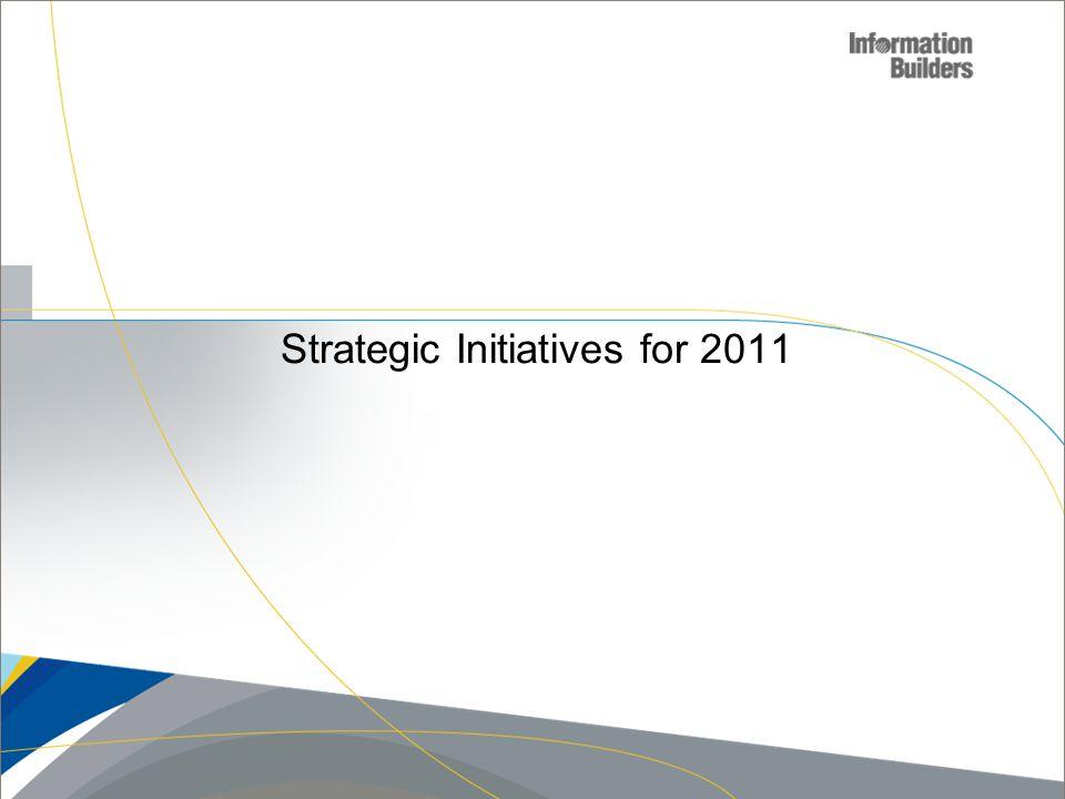 Copyright 2010, Information Builders. Slide 4 Strategic Initiatives for 2011