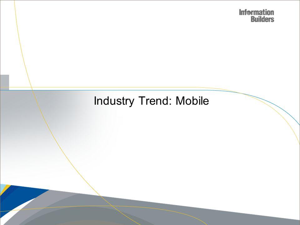 Industry Trend: Mobile Copyright 2010, Information Builders. Slide 5