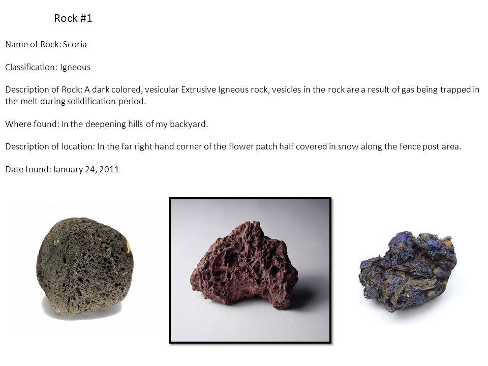 Rock #12 Name of Rock: Diorite Classification: Igneous Description of Rock: A corse grained Intrusive Igneous rock that contains a mixture of Feldspar, Pyroxene, Hornblade, and Quartz.