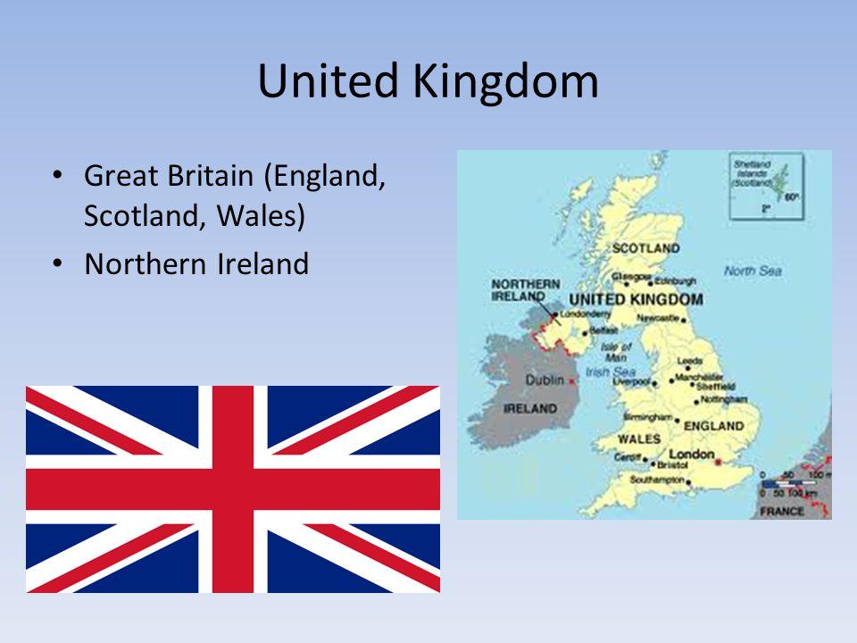United Kingdom Great Britain (England, Scotland, Wales) Northern Ireland