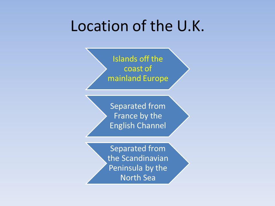 Location of the U.K.