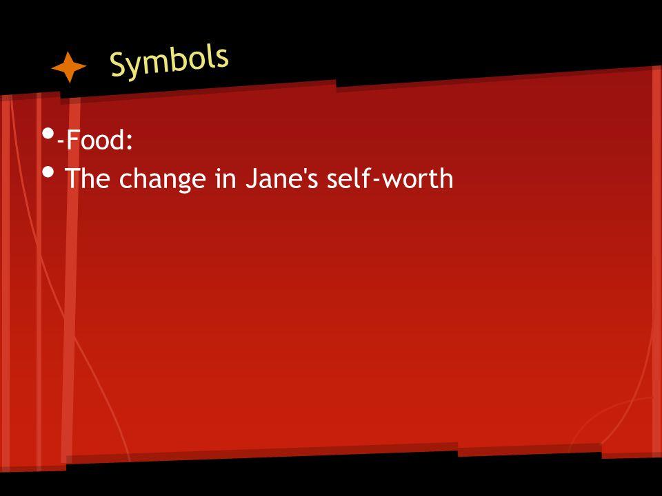 Symbols -Food: The change in Jane s self-worth