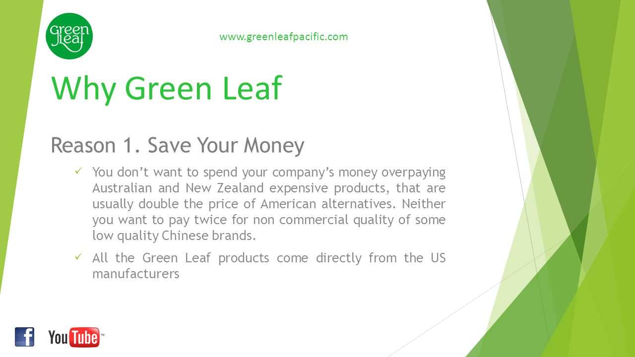 Payment terms www.greenleafpacific.com For all orders Green Leaf Ltd will require at least 30% deposit.