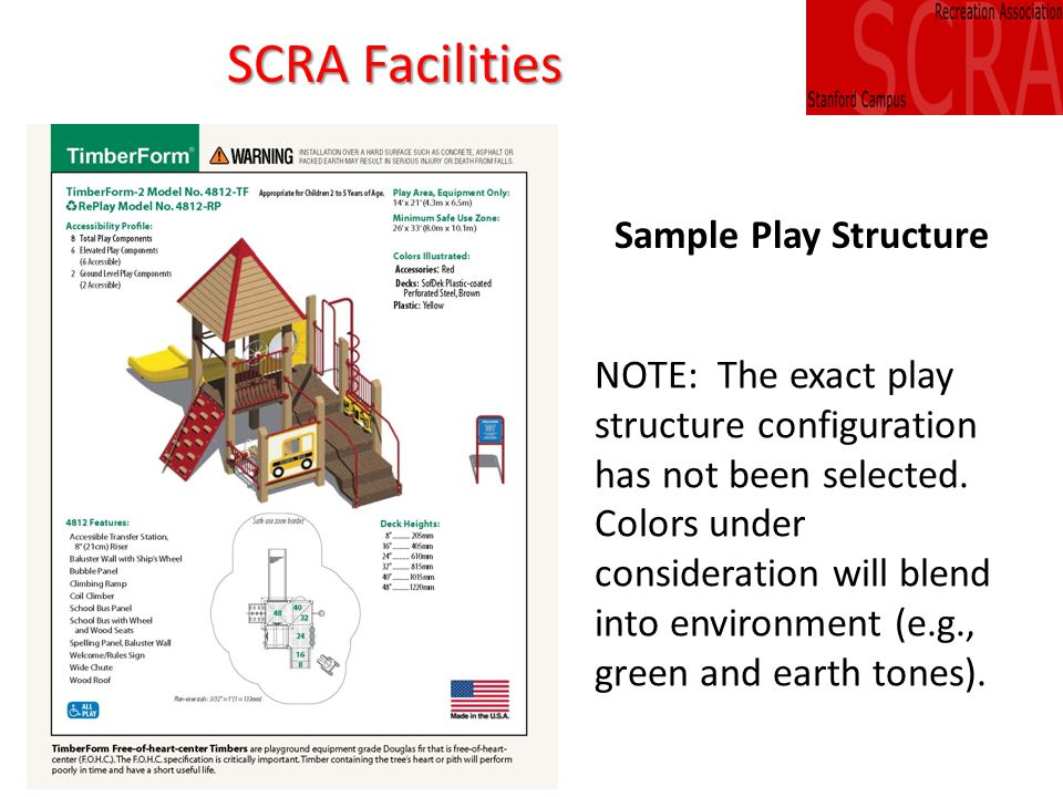 NOTE: The exact play structure configuration has not been selected.