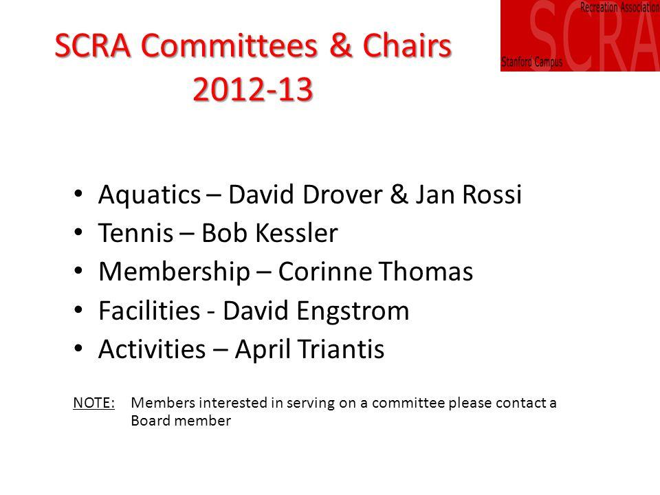 SCRA Activities Report April Triantis, Chair Jan Rossi, Corinne Thomas, Steve Robe (ex officio)