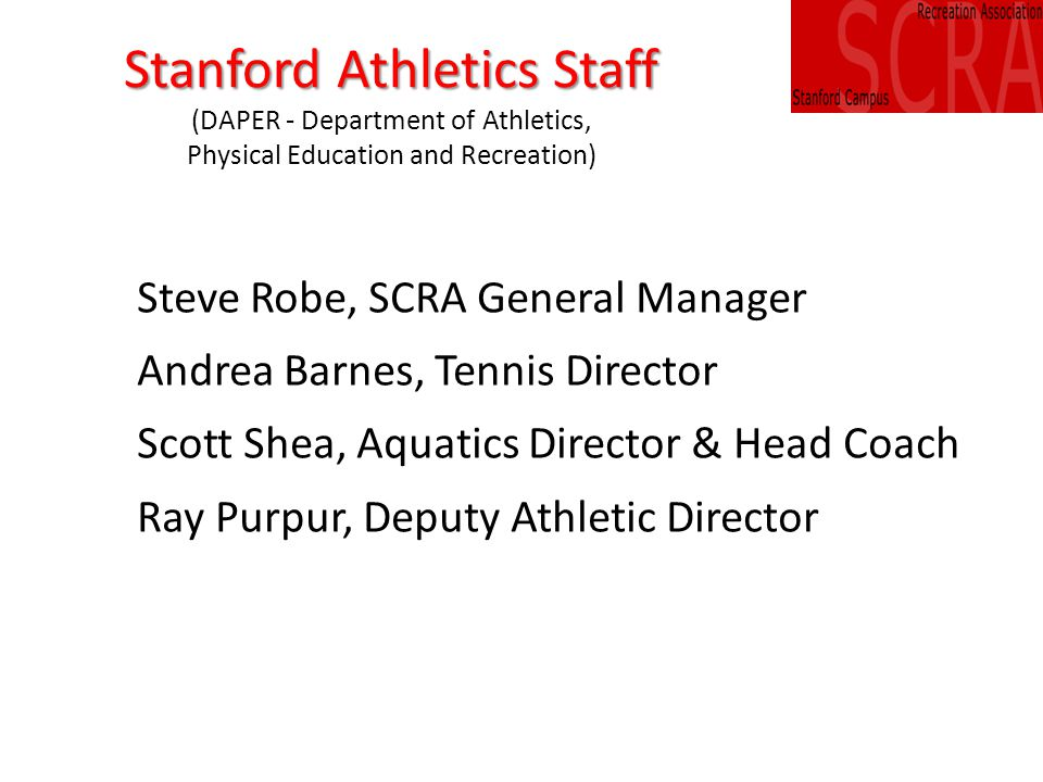 New Board Members Election The SCRA Nominating Committee recommends the following slate of candidates for 2013-15 SCRA Board: Scott Fendorf Mark Gonzalgo Obul Kambham Catherine Wilson