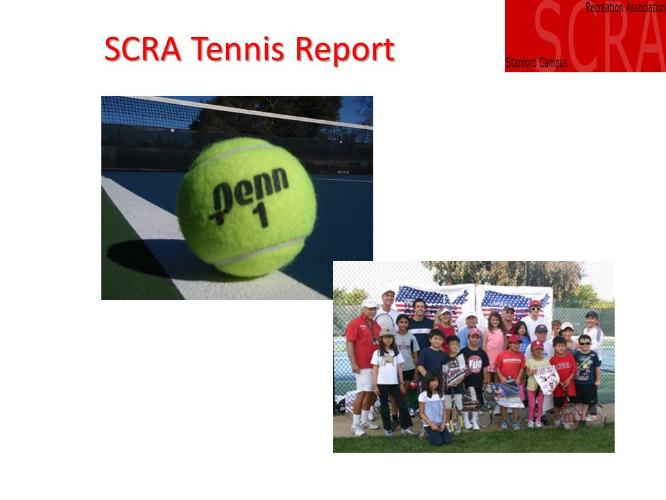 SCRA Tennis Committee Bob Kessler, Chair Barbara Yu, Ann Porteus, Joe Lipsick, Andrea Barnes (ex officio)