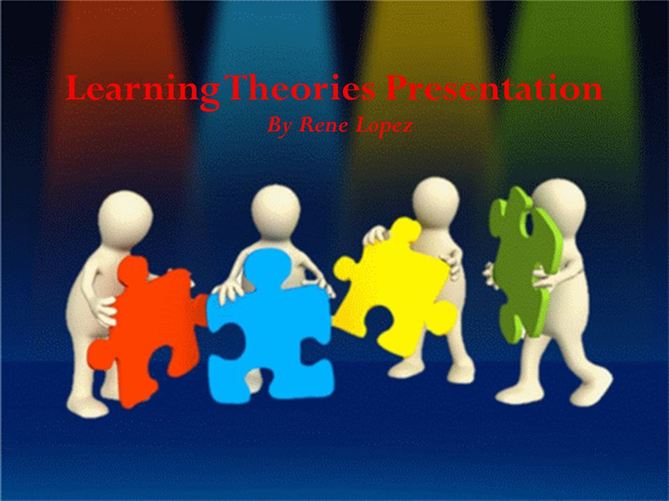 Learning Theories Presentation By Rene Lopez