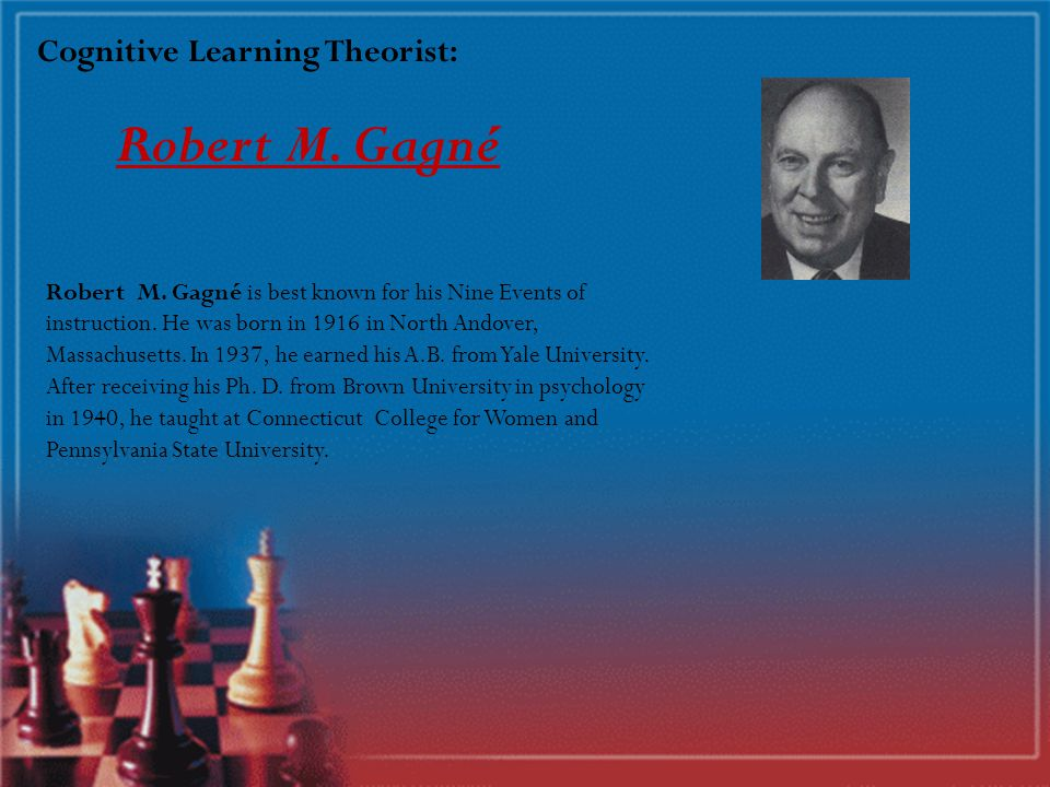 Theorists of Cognitive Learning Robert M.