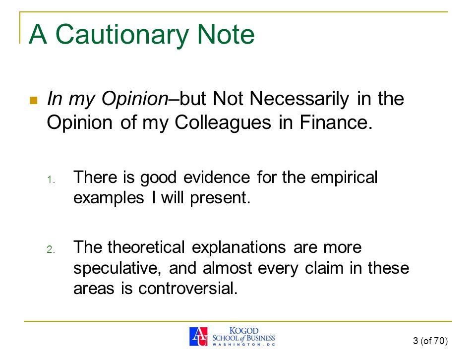 Foundations of Behavioral Finance