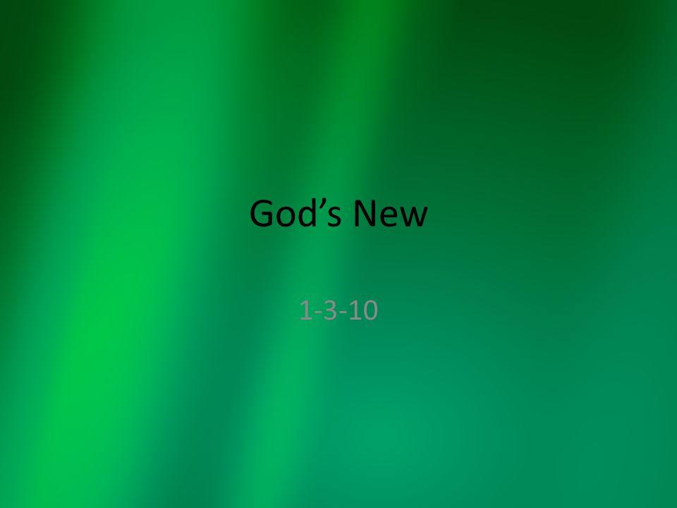 God's New 1-3-10