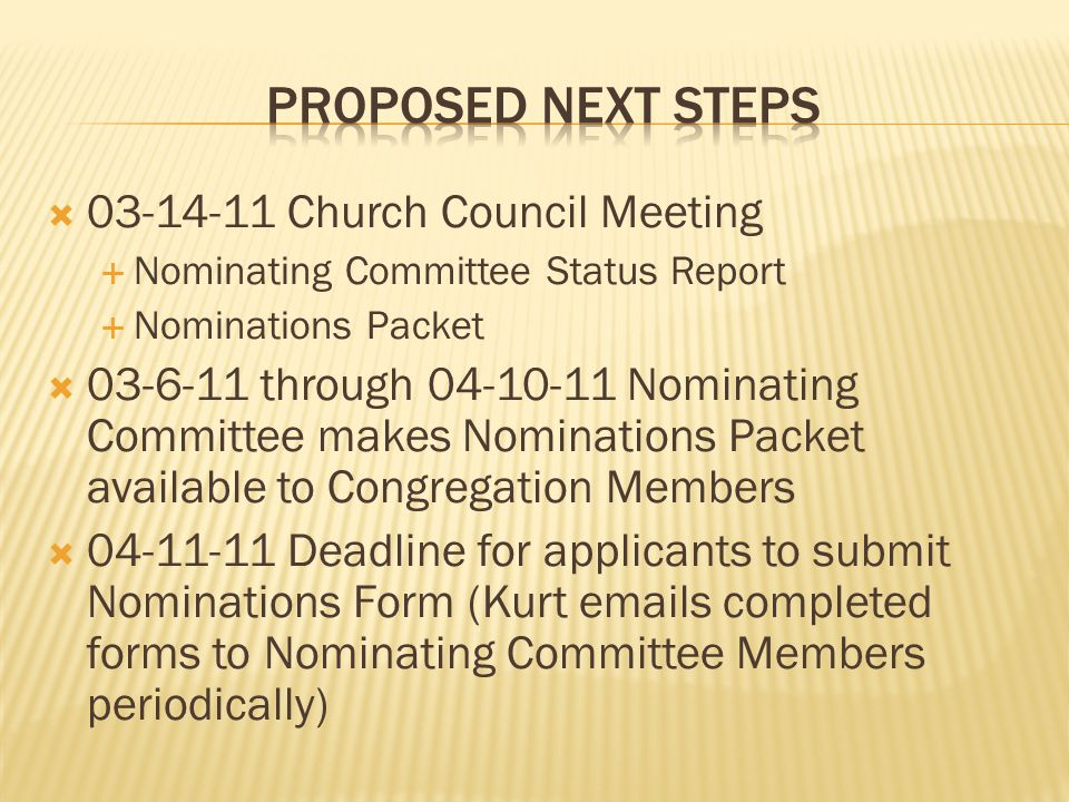  04-13-11 Nominating Committee Mtg.