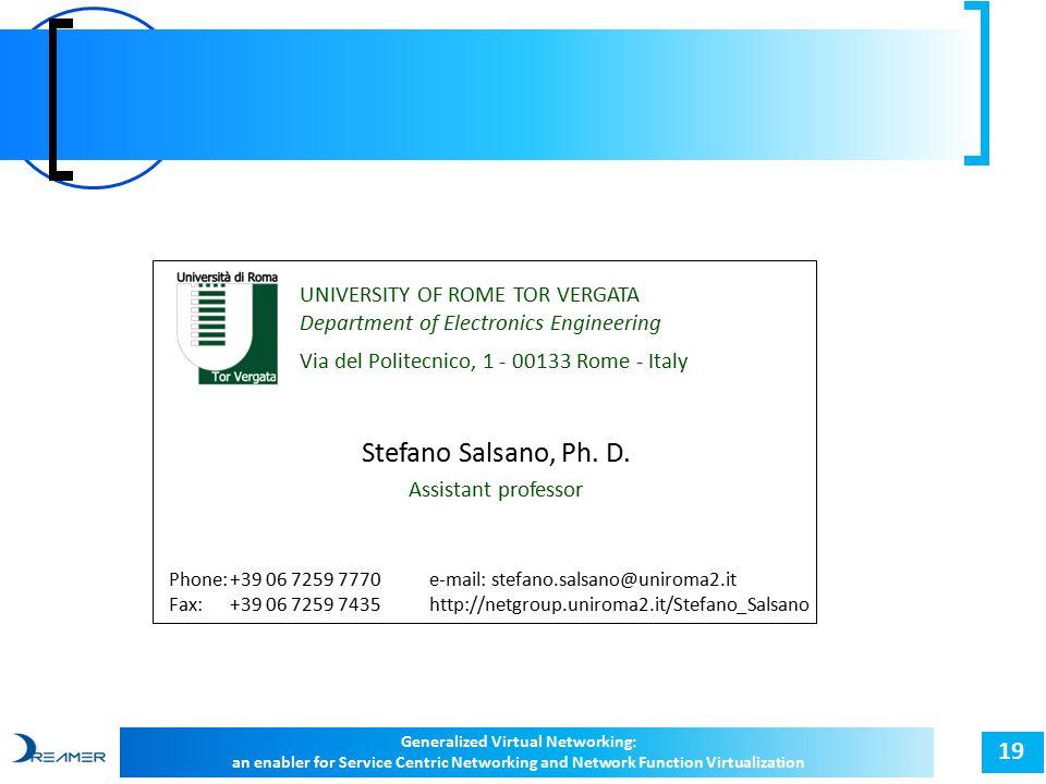 19 Stefano Salsano, Ph. D.