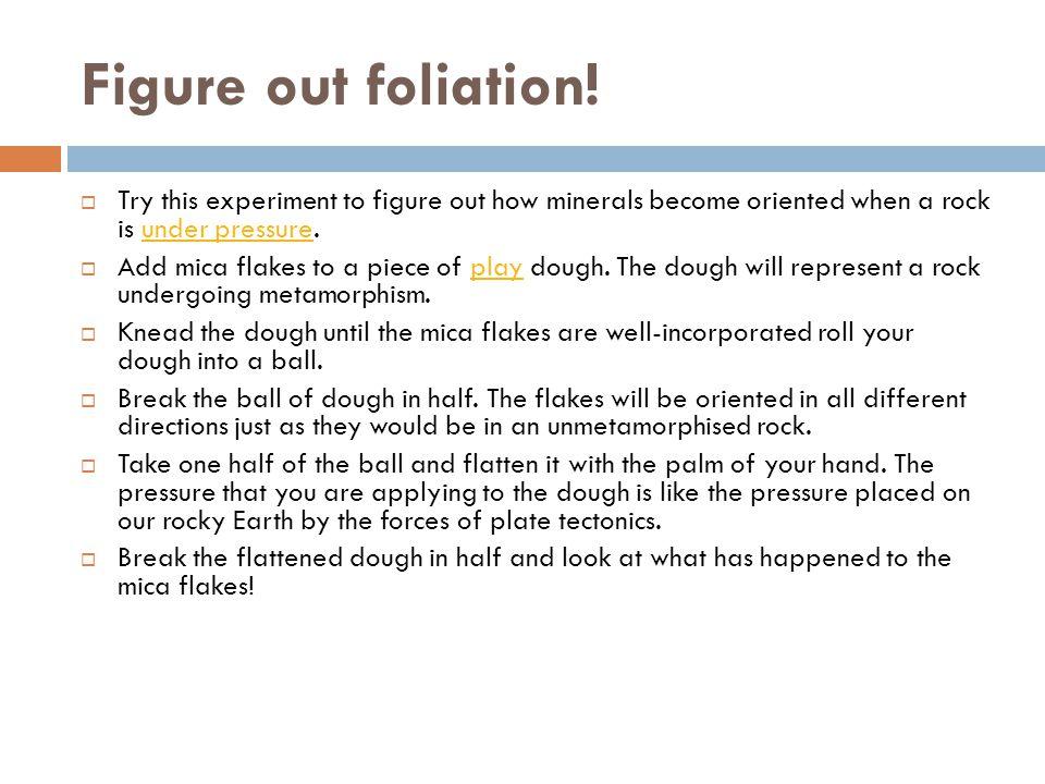 Figure out foliation.