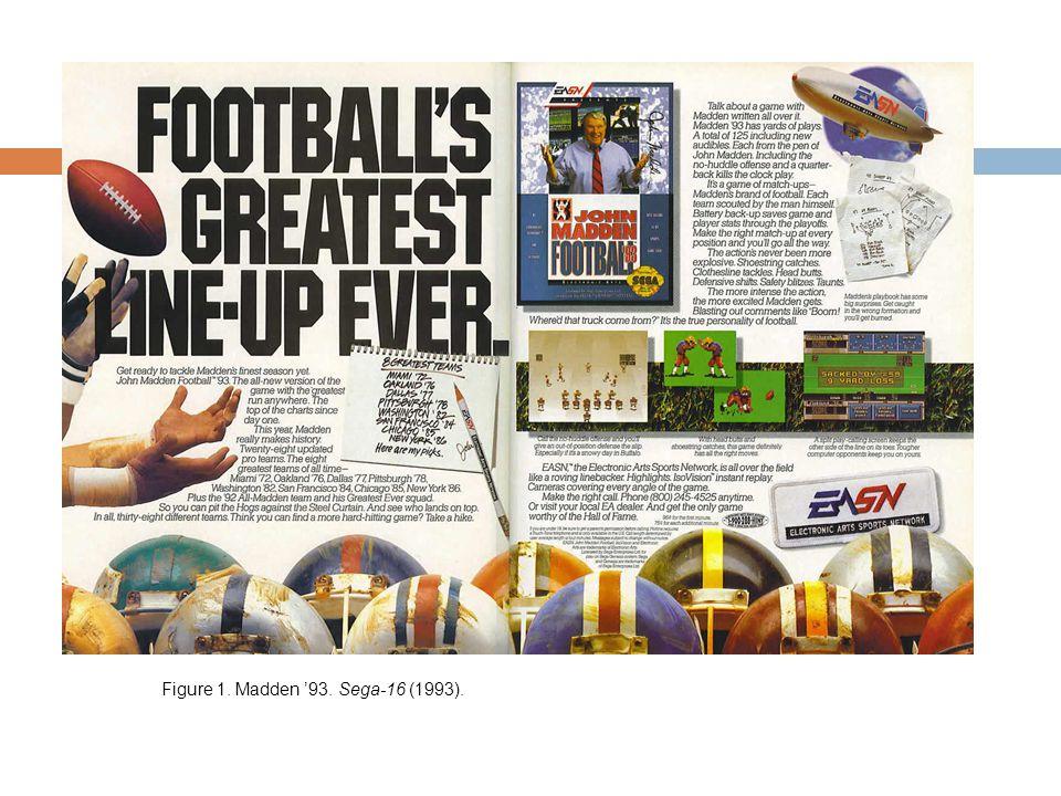 Figure 1. Madden '93. Sega-16 (1993).