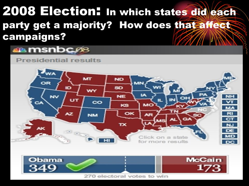 Step 2: Slate of electors is chosen based on the winner of the popular vote.
