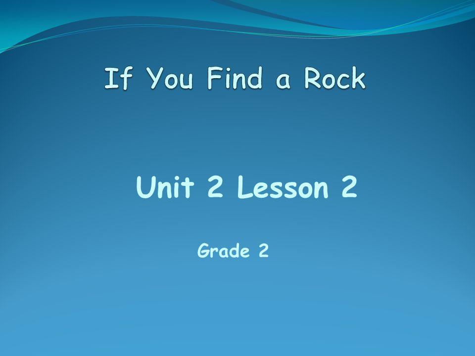 Unit 2 Lesson 2 Grade 2