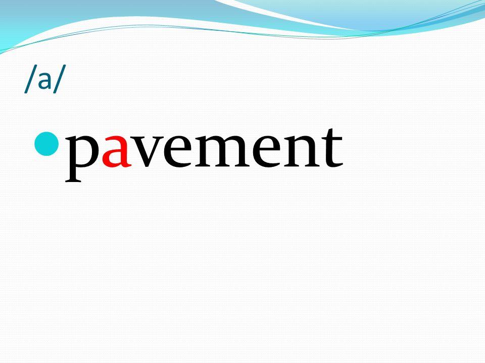 /a/ pavement