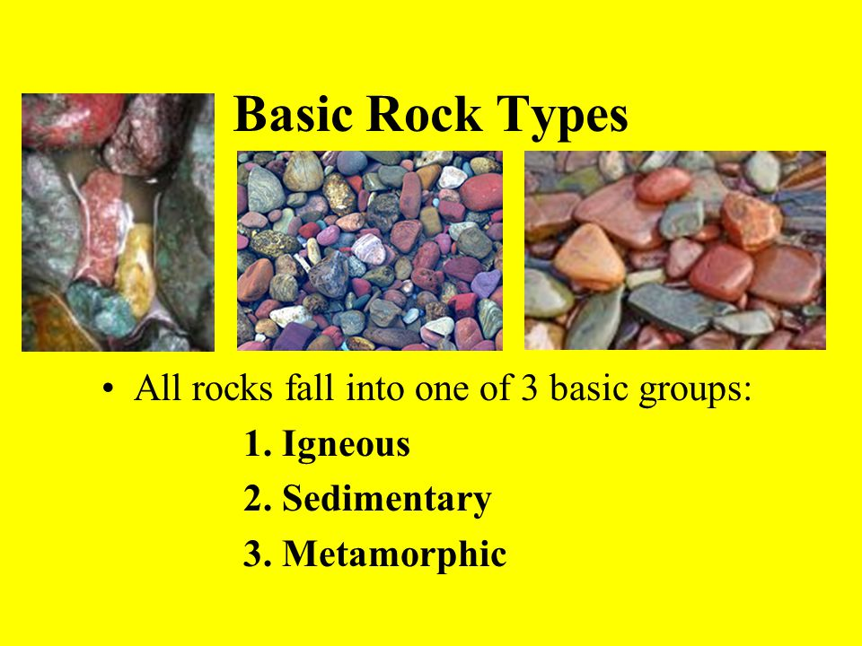 Igneous Rocks Form from the cooling of liquid rock (magma) that came up from deep within the earth.