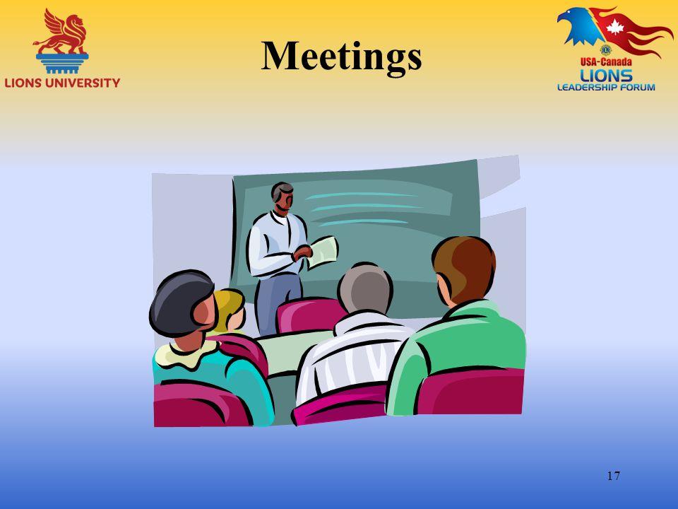 Meetings 17