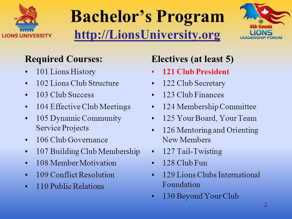 43 To receive credit, Register or Login to http://www.LionsUniversity.org/ and http://www.LionsUniversity.org/